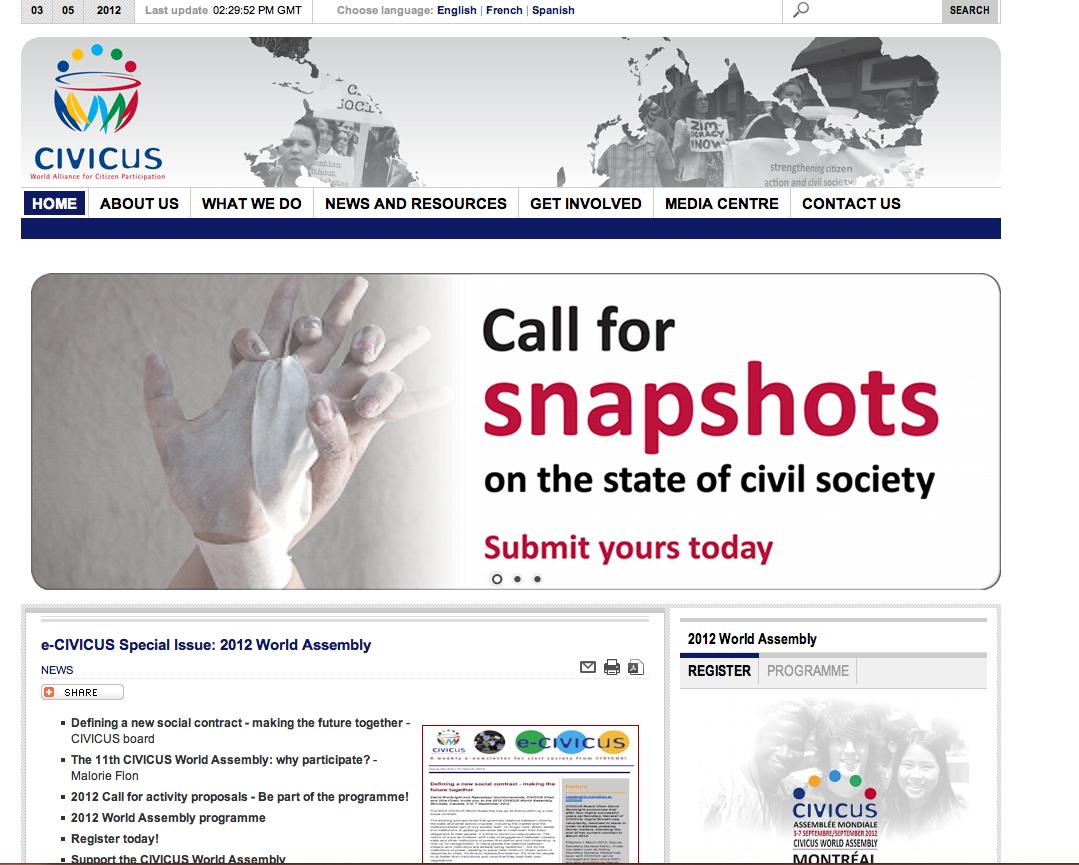 Civicus, alleanza mondiale per la partecipazione dei cittadini