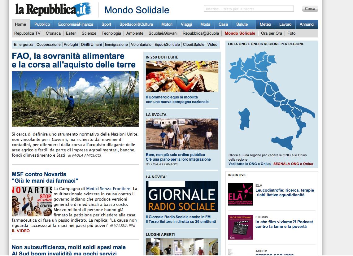 Mondo Solidale (repubblica.it)