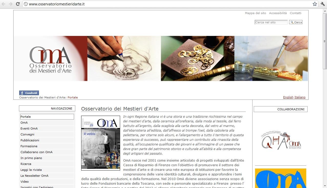 Osservatorio Mestieri, l'artigianato come risorsa di rinascita economica
