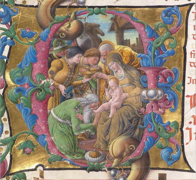 I presepi di pergamena nella cripta del Duomo di Siena