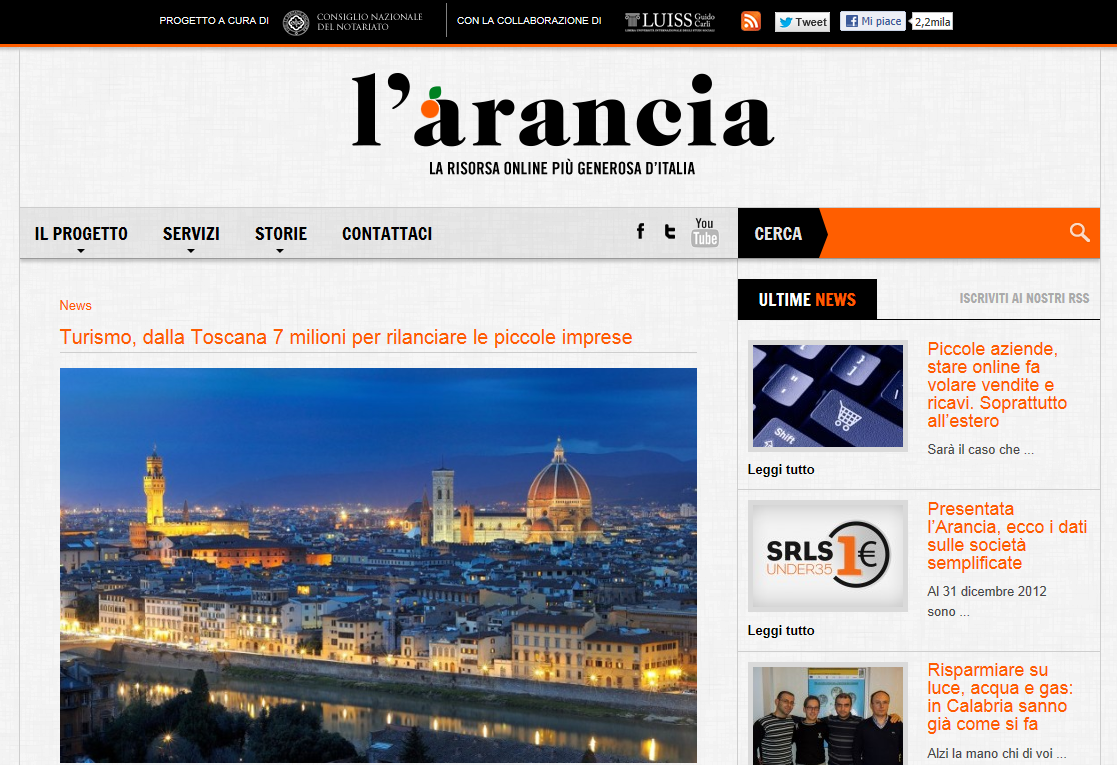 L'arancia: notariato e Luiss per aiutare le giovani imprese