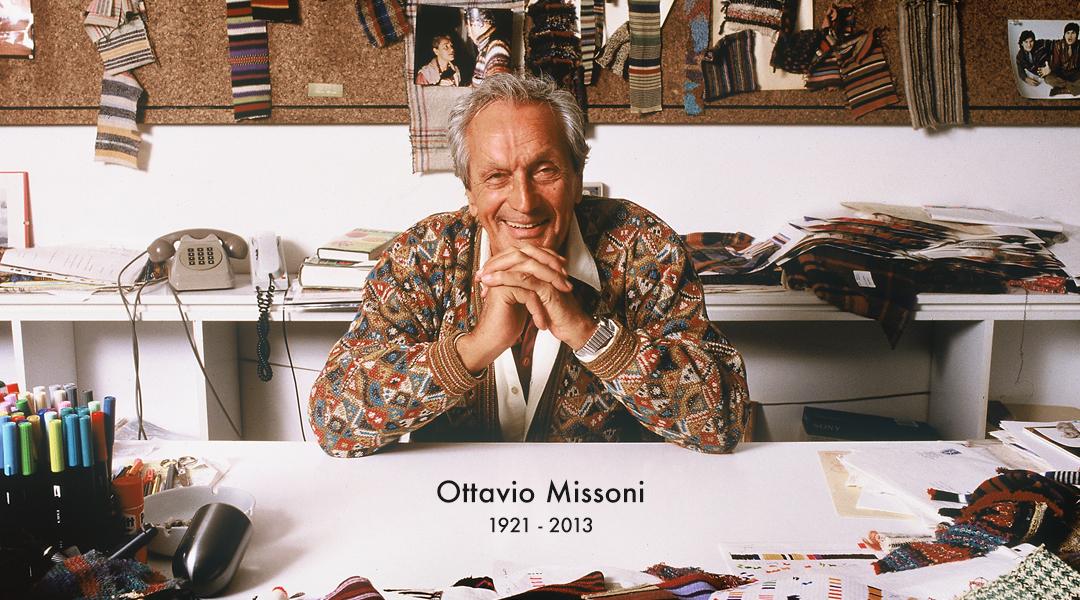 """La moda perde Ottavio Missoni, """"maestro del colore"""""""