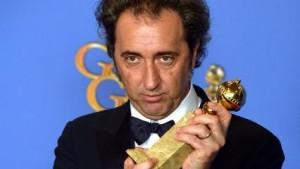 Paolo Sorrentino con il Golden Globe