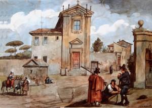 Pinelli_-_Chiesa_del_Quo_Vadis