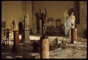 Firenze, il Museo del Bargello dopo l'alluvione del 1966.m