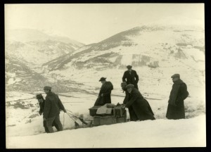 Trasporto opere in Valtellina durante la Prima Guerra Mondiale.m