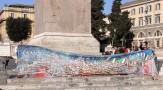 """A piazza del Popolo, a Roma, con Carlo Riccardi: """"Diamoci una mano"""""""